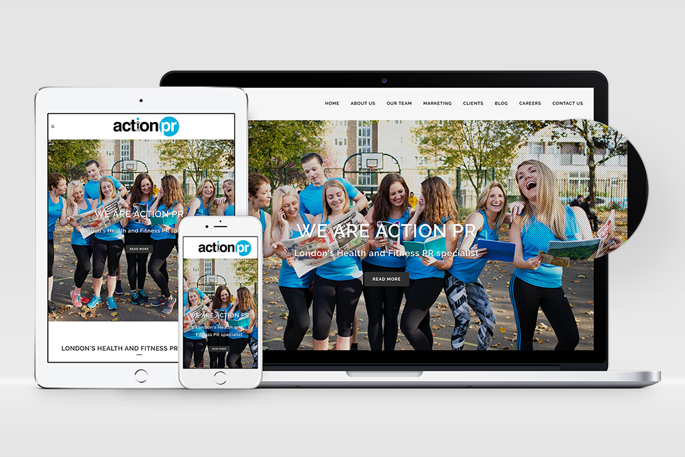 Action PR Website Design